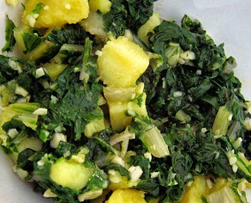 Recept za Blitva s krompirjem