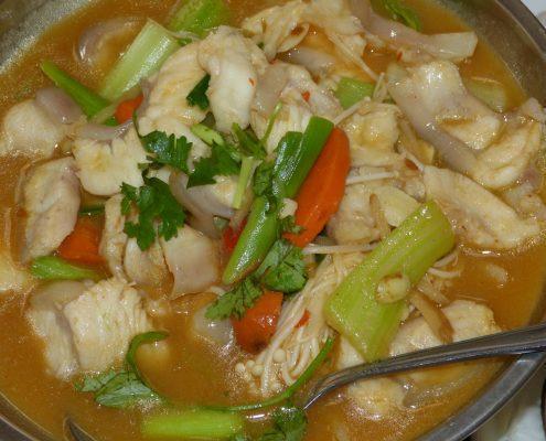 Ribja juha z rižem in zelenjavo