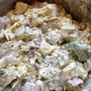 Ribja solata s krompirjem